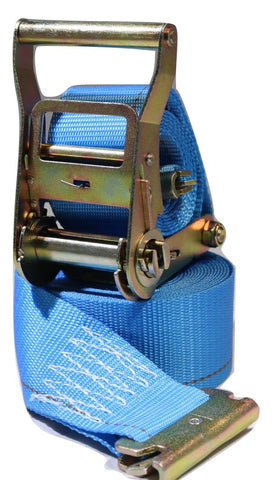 2 X 20 Ft. Interior Van Logistic Ratchet E-Track Strap W/ Spring E Fittings