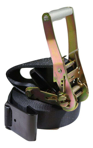 2 X 35 Ft. Black Web Ratchet Strap W/ Flat Hooks Flatbed