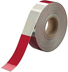 "1.5"" Conspicuity Tape 6"" Red / 6"" White 3M™  Diamond Grade™ RatchetStrap.com"