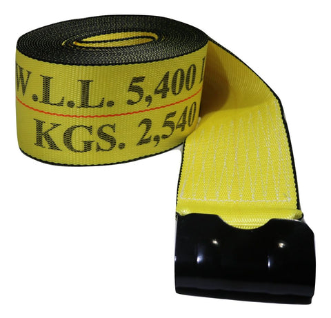 4 Winch Strap W/ Flat Hook 30 Ft. Flatbed