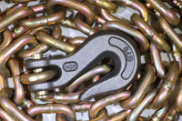 "5/16"" x 20 ft. Grade 70 Transport Chain w/ Clevis Grab Hooks, Made in USA - RatchetStrap.com"
