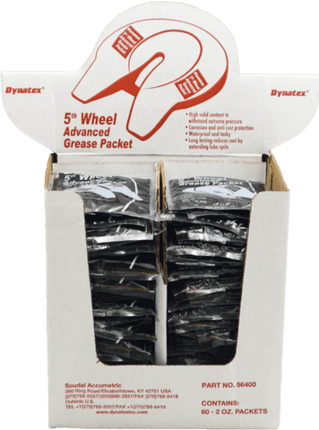 5TH Wheel Grease Display Box Includes - 60 Packets