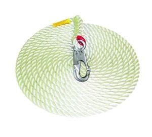 "5/8"" x 50 ft. Lifeline w/Double Locking Hook - ratchetstrap-com.myshopify.com"
