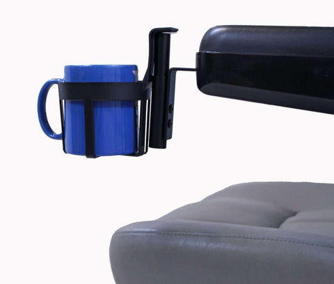 Cup Holder For Most Scooters/Powerchairs w/Padded Armrests | A1322