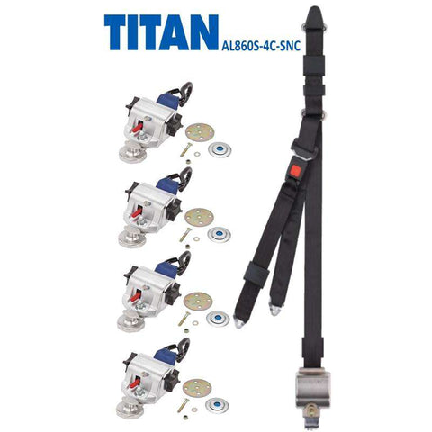 TITAN800 Retractor Kit & Occupant Restraint | AL860S-4C-SNC - wheelchairstrap.com