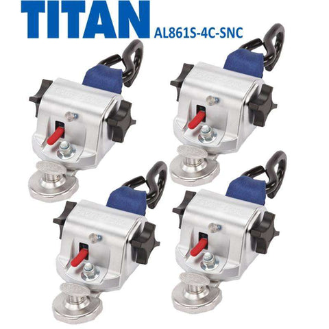 TITAN800 Retractor Kit | S-Hooks & SNC Fitting | AL861S-4C-SNC - wheelchairstrap.com
