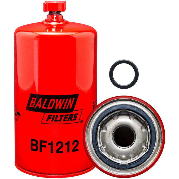 Qty 4 - BF1212 Baldwin Fuel Filter, Spin-On Filter Design - RatchetStrap.com