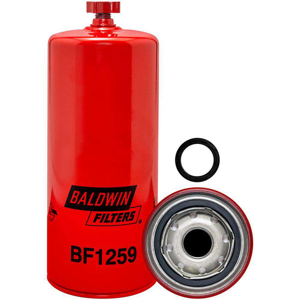 Qty 4 - BF1259 Baldwin Fuel Filter, 9-17/32x3-11/16x9-17/32 In - RatchetStrap.com