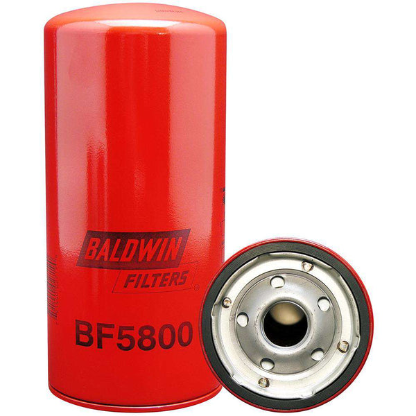 Qty 4 - BF5800 Baldwin Fuel Filter, Spin-On Filter Design - RatchetStrap.com