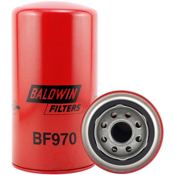 Qty 4 - BF970 Baldwin Fuel Filter, Spin-On Filter Design - RatchetStrap.com