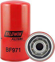 Qty 4 - BF971 Baldwin Fuel Filter, Spin-On Filter Design, 7-1/8 x 3-11/16 x 7-1/8 - RatchetStrap.com
