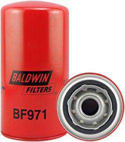 BF971 Baldwin Fuel Filter, Spin-On Filter Design, 7-1/8 x 3-11/16 x 7-1/8 In