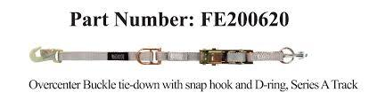 FE500 Wheelchair Overcenter Buckle Strap for A Track - wheelchairstrap.com
