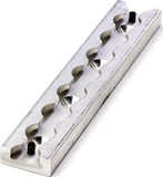"HD L-Track Section, Non-Flanged, with 1/4"" Countersunk Mounting Holes, 8 IN Long 