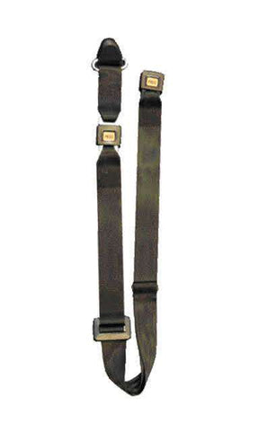 Static Shoulder Belt with 2 Piece with Buckle and Black Webbing | H350227 - wheelchairstrap.com