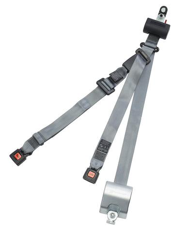 Automatic 3 Point Retractor 40˚ bracket retractable height adjuster, L-track fitting | H370231-3241 - wheelchairstrap.com