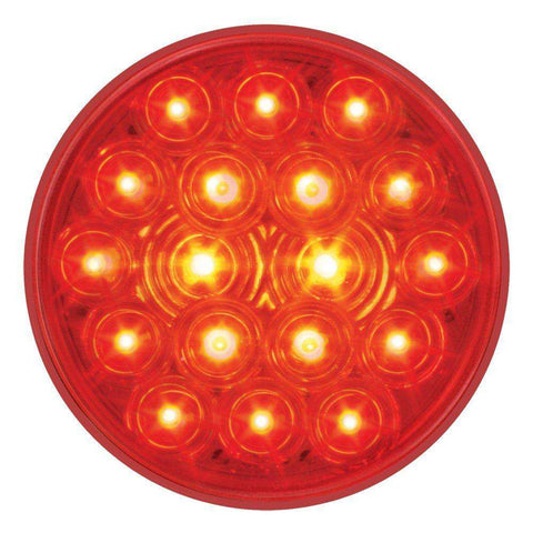 "4"" Round Stop Turn Tail 18 LED Sealed Light - RED"