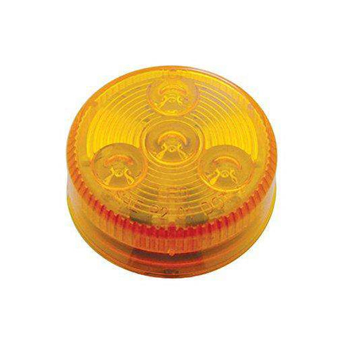 "2.5"" Round Amber Clearance Side Marker Light 4 LED - ratchetstrap-com.myshopify.com"