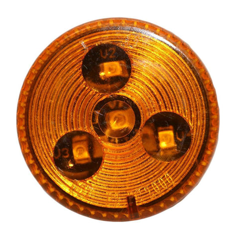 "2"" Round Amber Clearance Side Marker Light 4 LED"