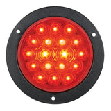"4"" Round Stop Turn Tail 18 LED Sealed Light w/Flange - RED - ratchetstrap-com.myshopify.com"