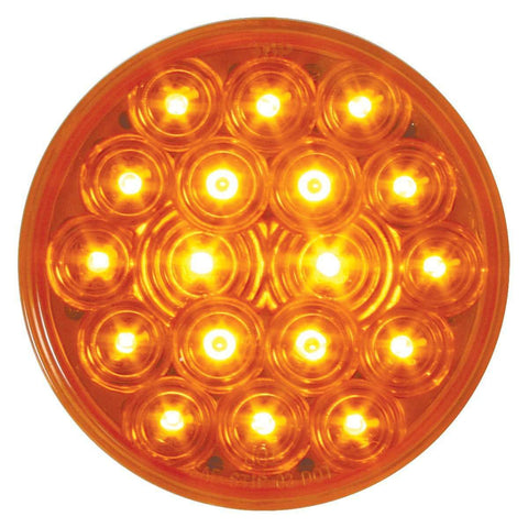 "4"" Round Park Turn Clearance 18 LED Sealed Light - AMBER - ratchetstrap-com.myshopify.com"