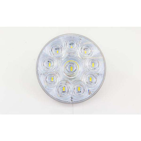 "4"" Round Stop Turn Tail 10 LED Sealed Back Up Light - WHITE"