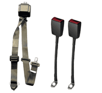 WAV Auto 3 Point Belt with Height Adjuster and Two Flexible Buckles | H350233 - wheelchairstrap.com