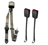 WAV Automatic 3 Point Belt with Height Adjuster and Two Flexible Buckles | H350233