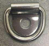 Marine Boat 316 Stainless Steel D Ring Pad Eye D-Ring 1/8'' Pin Hole - RatchetStrap.com