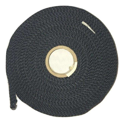 "1"" Black Kevlar® Webbing - Price is Per Foot"