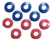 Set of 10 Polyurethane Gladhand Seals Red & Blue - ratchetstrap-com.myshopify.com
