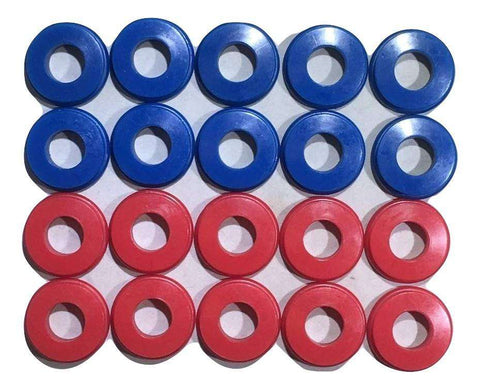 Set of 20 Polyurethane Gladhand Seals Red & Blue - ratchetstrap-com.myshopify.com