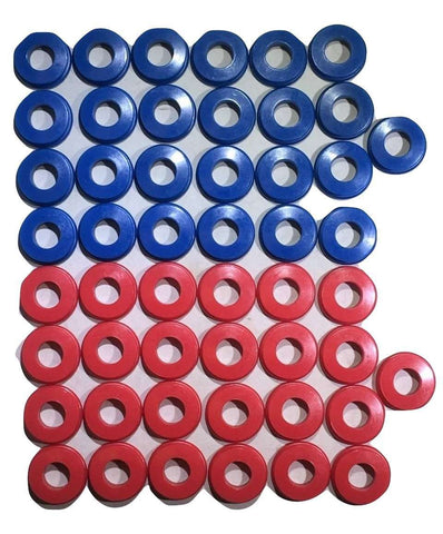 Set of 50 Polyurethane Gladhand Seals Red & Blue - ratchetstrap-com.myshopify.com