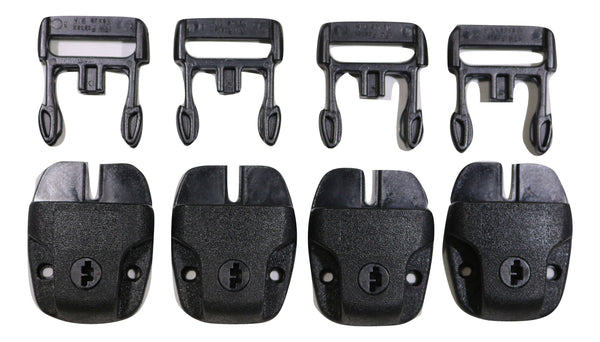 SPA or Hot Tub Cover Nexus Lock Plastic Buckle Replacement Kit - QTY 4 NO KEYS - RatchetStrap.com