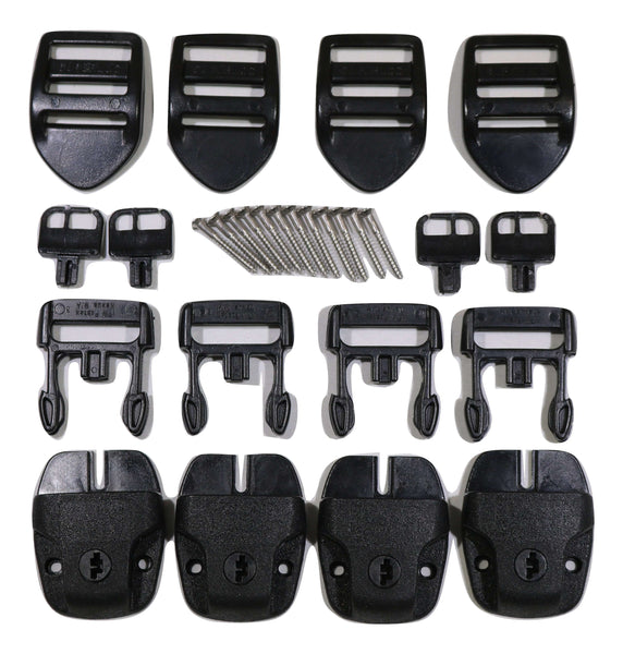 Qty 4 SPA or Hot Tub Cover Nexus Lock Plastic Buckle Replacement Kit - RatchetStrap.com