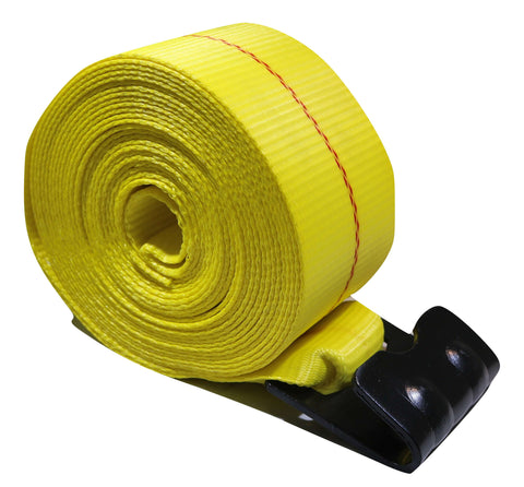 "QTY 10 -  4"" x 30 Ft Heavy Duty Winch Straps w/ Flat Hooks - AMAZON"