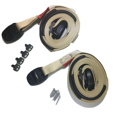Nexus Locking Center Release Spa Hot Tub Cover Adjustable Wind Straps - Tan - ratchetstrap-com.myshopify.com