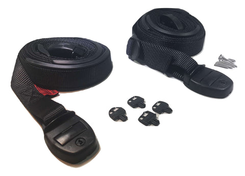 Nexus Locking Center Release Spa Hot Tub Cover Adjustable Wind Straps - Black RatchetStrap.com