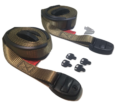 Nexus Locking Center Release Spa Hot Tub Cover Adjustable Wind Straps - Olive Drab - ratchetstrap-com.myshopify.com