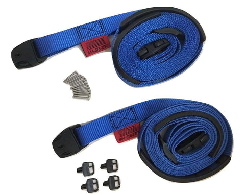 Blue Spa Cover Hot Tub Wind Strap Complete Kit Nexus Locks - ratchetstrap-com.myshopify.com