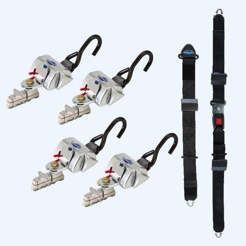 4 QRT Standard Retractors with Manual Lap & Shoulder Belt | Q-8200-A-L - wheelchairstrap.com
