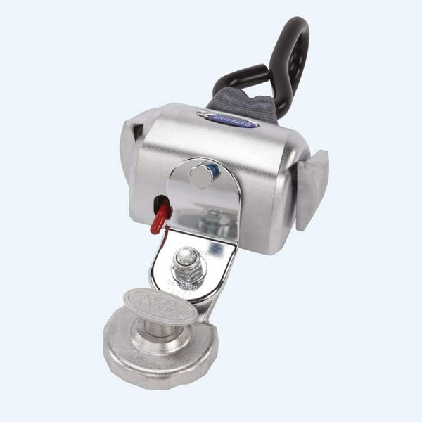 QRT Deluxe Retractor Automatic (dual knobs) Mounted with Slide N Click Fitting RatchetStrap.com