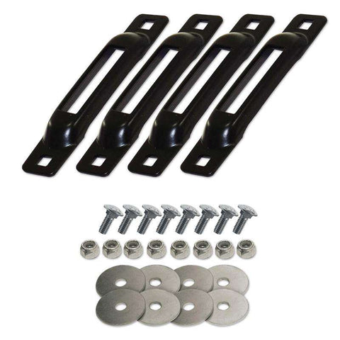 SNAPLOCS BLACK 4 PACK WITH CARRIAGE BOLTS