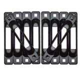 SNAPLOCS E FITTING MULTI PACK SINGLE E-TRACK HOLDER - BLACK