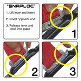 SNAPLOCS STAINLESS 4 PACK WITH SELF-DRILLING SCREWS