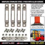 SNAPLOCS STAINLESS 4 PACK WITH ALLEN SCREWS
