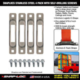 SNAPLOCS ZINC 4 PACK WITH SELF-DRILLING SCREWS