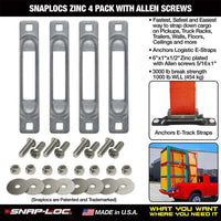 SNAPLOCS ZINC 4 PACK WITH ALLEN SCREWS - RatchetStrap.com