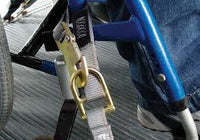 FE500 Wheelchair Overcenter Buckle Strap for L Track - wheelchairstrap.com
