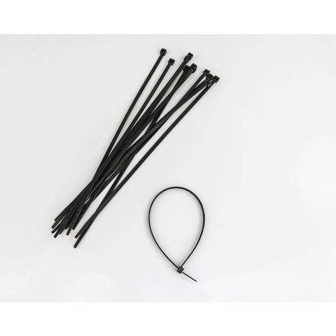 "QTY 100 - 14"" 50Lb Nylon Tie Wrap Uv Black 